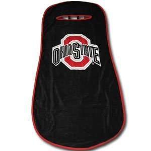 ohio state buckeyes black car seat towel cover. Black Bedroom Furniture Sets. Home Design Ideas
