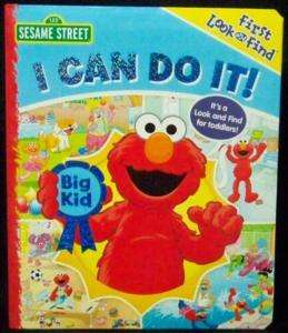 Sesame Street Elmo Ernie Big Bird I Can Do It Book New