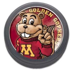 MINNESOTA GOLDEN GOPHERS OFFICIAL LOGO HOCKEY PUCK: Sports & Outdoors