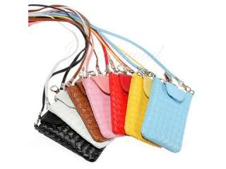 Fashion Lady Cell Phone PU Leather Pouch Bag Case For iPhone 4 4S