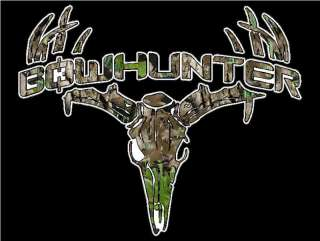 Bowhunter Deer Skull S4 Vinyl Sticker Decal Buck hunting whitetail