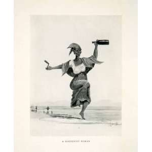 1924 Print Alfred Dolman Hottentot Woman Khoikhoi Khoekhoe