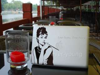 Audrey Hepburn MacBook Air/Pro Stickers Apple laptop Vinyl Decal Humor