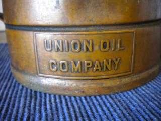 UNION SWINGSPOUT OIL CAN COPPER Half Gallon