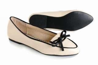 Fashion Women/Ladies Beige Leather Low Heel Shoes Eur Size #35~#39