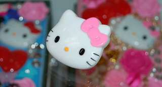 Big & Cute Hello kitty w/Light Pink Bow Ring Adjustable