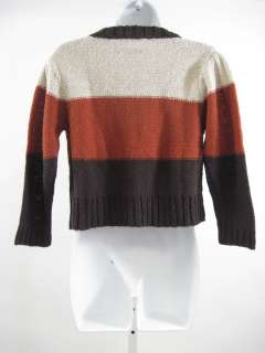LILY MCNEAL Brown Knitted Cardigan Sweater Shirt Sz S
