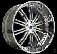 20 ASANTI AF128 Maserati Coupe Chrome Wheels Tires