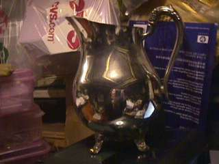 antique silverplate water pitcher Rogers Taunton Mass |