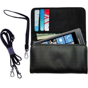 Black Purse Hand Bag Case for the Samsung GT I8700 with
