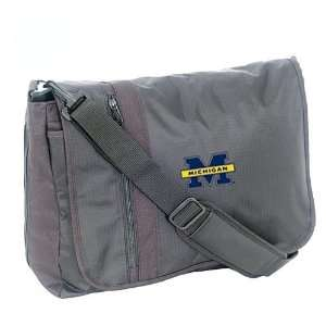 Mercury Luggage Michigan Wolverines Black Messenger Bag