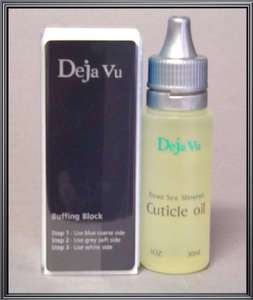 DejaVu Dead Sea, Deja Vu, Nail Buffer + Cuticle Oil