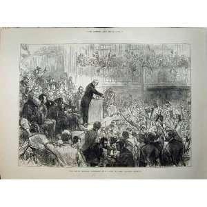 1876 Men Conference St James Hall Mr Gladstone Meeting
