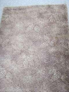 Vtg hollywood regency 40s Bigelow woven carpet rug runner pinecone