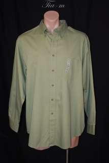 MUTED KIWI BUTTONED COLLAR COTTON DRESS SHIRT MEN SZ XL NWT $55