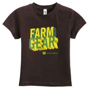 John Deere Youth Farm Gear Brown T shirt   ST117929