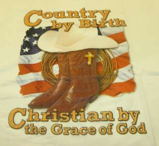 Short Sleeve T Shirt Country by Birth, Christian by God