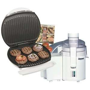 GEORGE FOREMAN GR36JM1 Lean Mean Indoor Grill with Bonus Juiceman