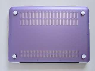 13 MacBook Pro SeeThru Rubberized Hard Case   Purple