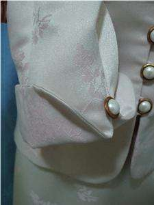 SAG HARBOR WOMENS SKIRT SUIT IVORY PINK MOTHER OF THE BRIDE CAREER