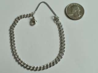 James Avery Sterling Silver Double Curb Charm Bracelet 7 3/4
