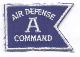 1960s 70s AIR DEFENSE COMMAND A AWARD patch