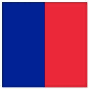 Paris City Flag car bumper sticker window decal 5 x 5