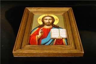 Rare Antique Russian Orthodox ICON Of JESUS CHRIST 19 C