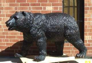 Large Cast Bronze Standing Bear Statue