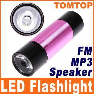 Sport Bicycle Bike Mini LED Flashlight Torch FM TF  Music Speaker