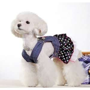 Spring Summer Pet Puppy Doggie Clothes Slim Jeans Flowers