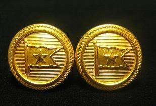 RMS TITANIC Button Earrings   White Star Line Crew