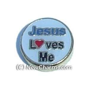 Jesus Loves Me Floating Locket Charm Jewelry