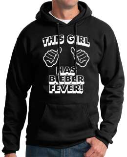 THIS GIRL justin BIEBER FEVER HOODIE T Shirt new concert tee beiber