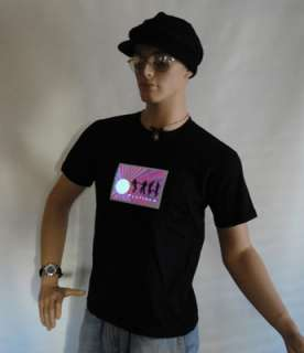 LED sound activated PLATINUM black t shirt light up HOT