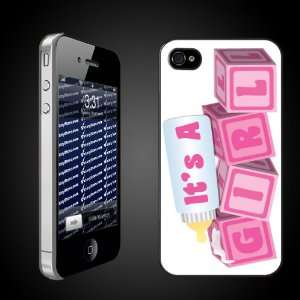 New Baby iPhone Design Its a Girl Baby Blocks   CLEAR