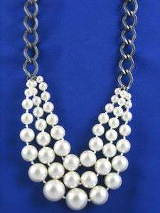 Kenneth Cole New York Chunky Faux Pearl Layer Necklace
