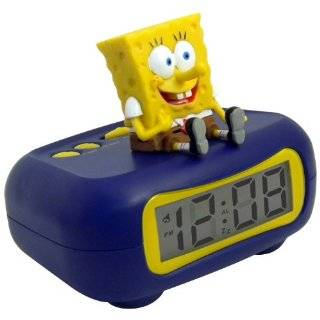 Nickelodeon Spongebob Squarepants LED Alarm Clock Toys