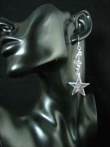Silver Plated Party Fashion Style Star Dangle Earrings S169