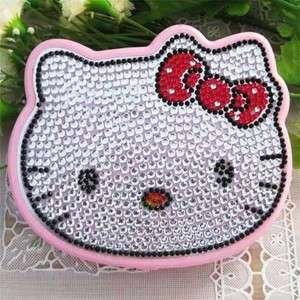 Cute Crystal Hello Kitty Face Girl Folding Calculator