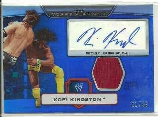 Topps WWE Platinum Kofi Kingston Autograph Relic / 99