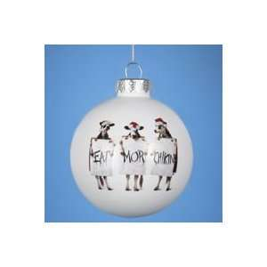 Pack of 6 Chick Fil A Glass Ball Christmas Ornaments 3.25