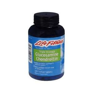 LIFE FITNESS TRIPLE STRENGTH GLUCOSAMINE CHONDROITIN 120 COATED