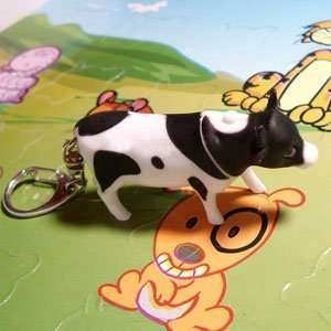Led Milk Cow Sound Keychain Light Toys & Games