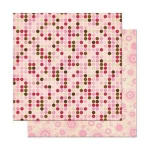Bo Bunny Crazy Love Double Sided Heavy Weight Paper 12X12 Dot