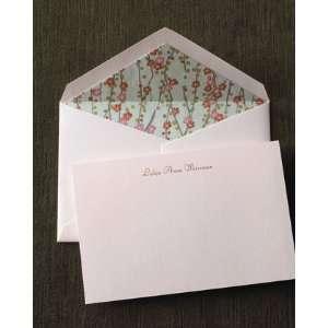 Crane Co 50 Pink Engraved Cards Envelopes