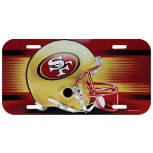 Francisco 49ers   Logo License Plate, NFL Pro Football: Home & Kitchen