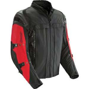 Joe Rocket Rasp 2.0 Mens Textile Sports Bike Motorcycle Jacket   Red