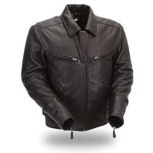 First MFG Xpert Performance Mens Bronson Hybrid Leather Jacket. Fully
