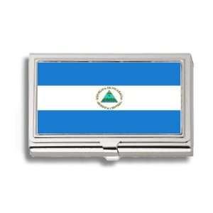 Nicaragua Nicaraguan Flag Business Card Holder Metal Case